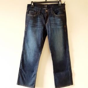 New !IT Dark Wash Ankle Crop Jeans S 29